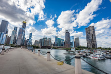 Chicago City View From A Pier ...