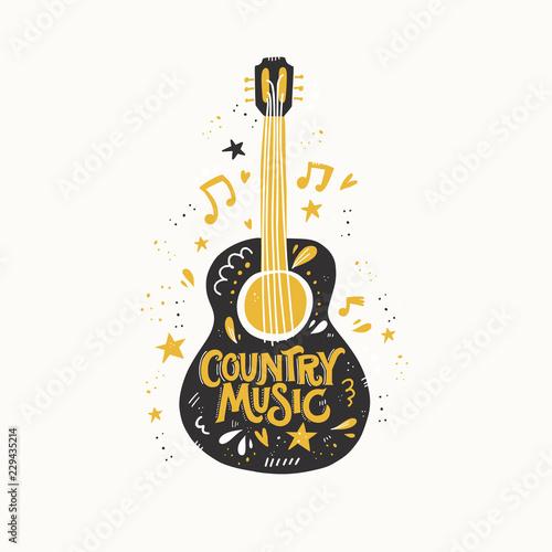 Fotografia, Obraz Guitar Country Music