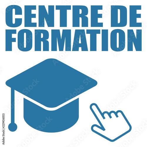 Fotografie, Obraz  Logo centre de formation.