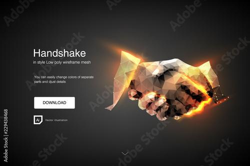 Canvas-taulu Handshake