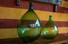 Vintage Large Wine Bottles. Wine Cellar, Storage Of Wine.