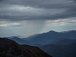 Raining far in the mountains of Krasnaya Polyana Sochi