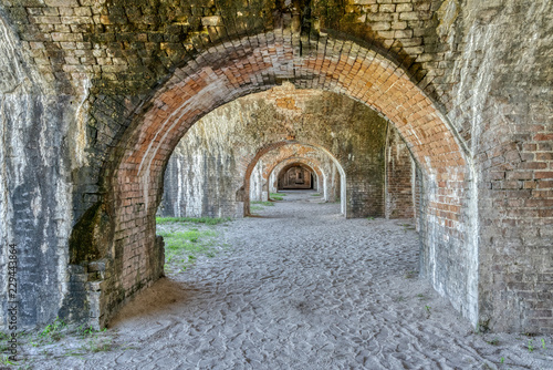 Poster de jardin Fortification Inside Ft Pickens