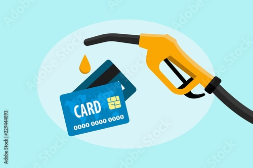 Fotografía Credit card in payment for petroleum