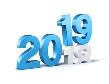 Blue 2019 New Year Gold Beginn...