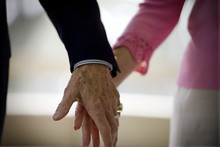 Close Up Of An Elderly Couples...