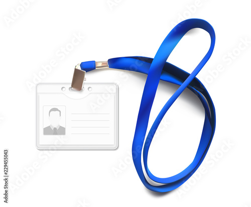Lanyard with id card Poster Mural XXL