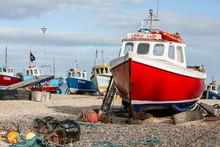 Boats Docked Along The Shore