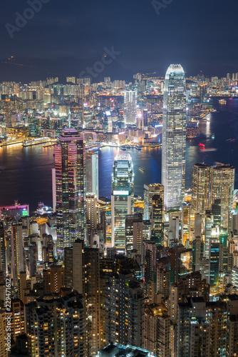 Poster Australie Victoria harbor of Hong Kong City
