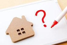 家の質問 Question Mark And House Image
