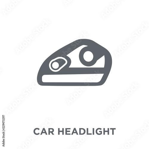 Fototapeta car headlight icon from Car parts collection. obraz na płótnie