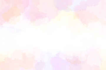 春の抽象的イメージ(水彩タッチ)