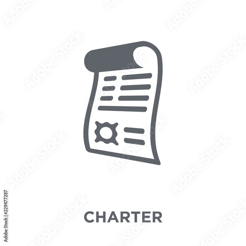 Fotografia Charter icon from Delivery and logistic collection.
