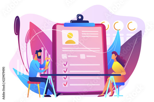 Employee assessment concept vector illustration.