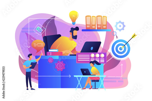 Workflow concept vector illustration.