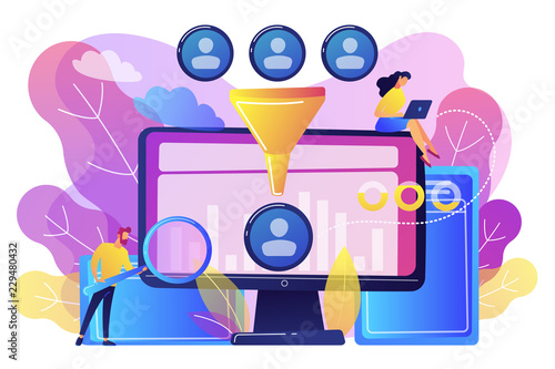 Obraz Data science analytics concept vector illustration. - fototapety do salonu