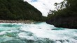 Raging river rapids near Puerto Varas, Chile.