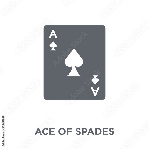 Ace of spades icon from Arcade collection. Wallpaper Mural