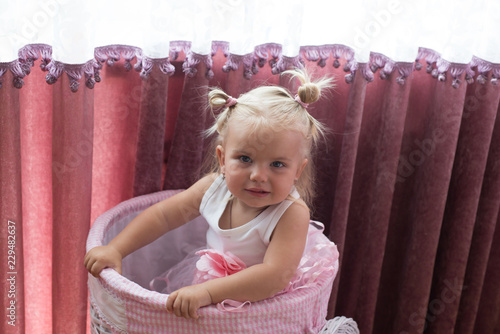 Astonishing Beautiful Baby Girl Little Girl With Bun Ponytails Little Child Natural Hairstyles Runnerswayorg