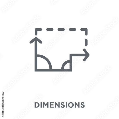 Dimensions icon from Geometry collection  - Buy this stock vector