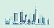 Toronto skyline Canada big city silhouette vector