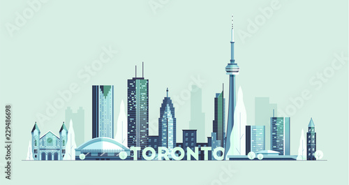 Photo Toronto skyline Canada big city silhouette vector