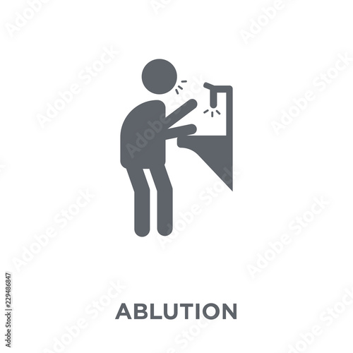 Fototapeta ablution icon from Hygiene collection.