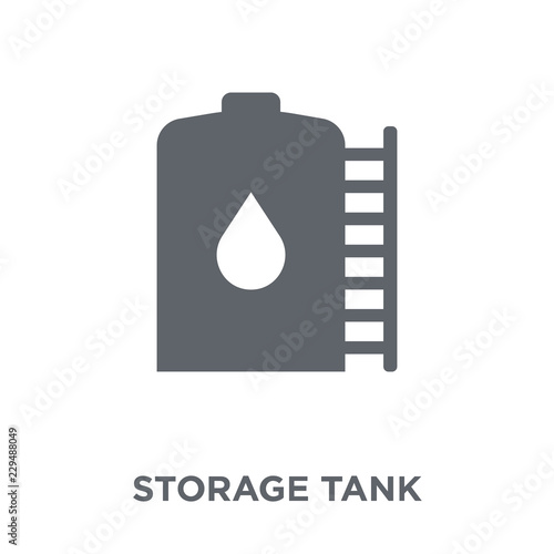 Fotomural storage Tank icon from Industry collection.