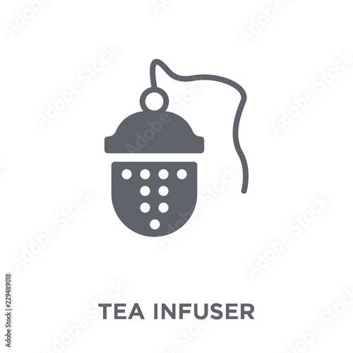 Fotografia, Obraz  tea infuser icon from Kitchen collection.