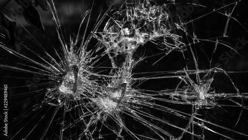 Glasbruch Sachbeschädigung Fototapet