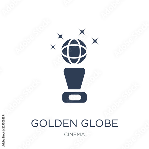 Photo  Golden globe icon