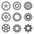 Ser gear icon on the gray background. Vector eos 10