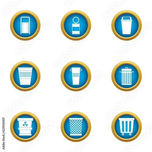 Fotografía  Consumption basket icons set