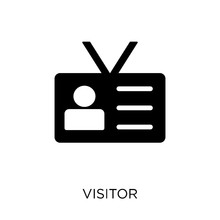 Visitor Icon Isolated On White...