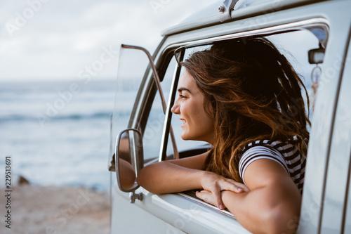 Valokuva  Hipster friends enjoy travel holiday on beach