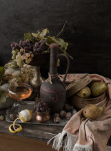 Autumn Still Life In The Style Of Dutch Artists