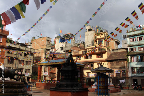 Obraz na płótnie Enjoying a quite moment at one stupa close to the bustling Patan Durbar Square