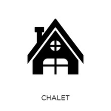 Chalet Icon. Chalet Symbol Design From Winter Collection.