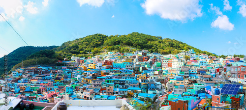 gamcheon Culture Village View point located at Busan, South Korea