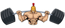 Illustration Of Strong Spartan...