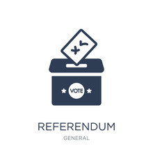 Referendum Icon. Trendy Flat V...