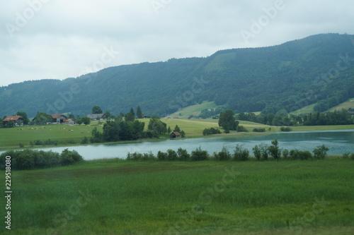 Foto op Plexiglas Panoramafoto s lake in Austria