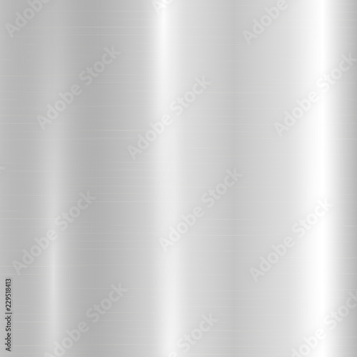 Poster de jardin Metal Silver metallic gradient with bright light reflections