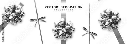 Fotografía  Bows silver realistic design