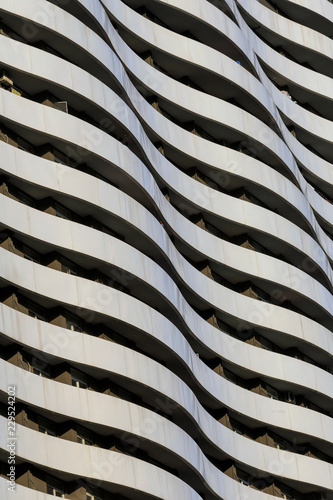 Modern building with wavy facade Wallpaper Mural