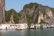 Típico crucero vietnamita en la Bahía de Ha Long
