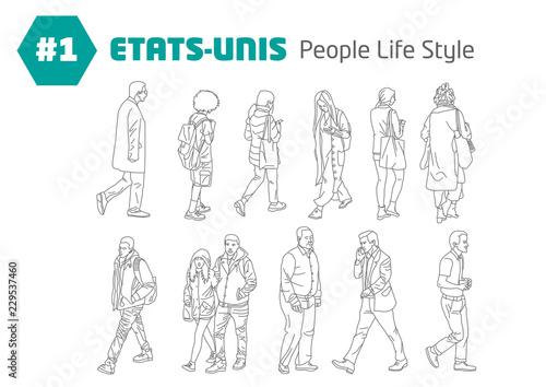 Obraz na plátně  #1 - ETATS-UNIS - People Style Life
