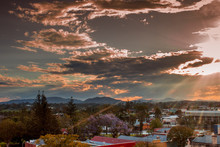 Sunset After Severe Storm Over Gympie