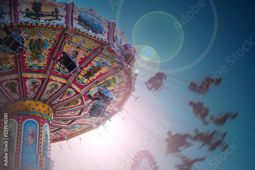 Karussell auf dem Volksfest