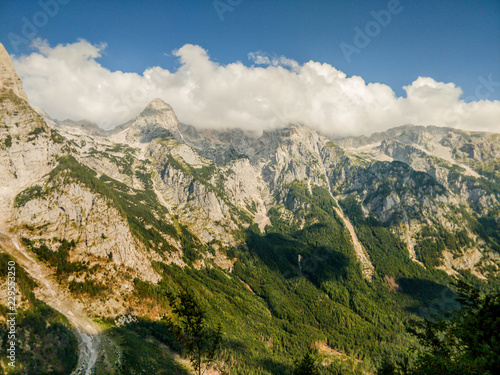 Landscape picture of mountains in Triglav national park in Slovenia. #229553250
